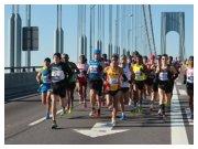 New York City Marathon 2010 - Il gruppo di testa poco dopo la partenza