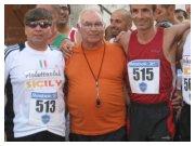 Corri per le vie di Borgetto 2010 - Da sinistra Giuseppe Vicari, Pino Sutera, Francesco Duca e Filippo Lo PIccolo