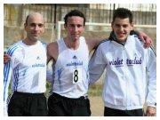 Lamezia Terme (CZ), 13 febbraio 2011 - C.d.S. regionale di cross - da sinistra Marco Calderone, Filippo Lo Piccolo e Antonio Guzzi