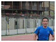 Agosto 2011 - Filippo lo Piccolo in azione sulla pista di atletica di Sestriere (TO) durante uno stage di allenamento in altura