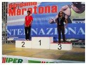 Bergamo 25 settembre 2011 - Lucia Napoli sul terzo gradino del podio dei Campionati Italiani di Maratona 2011 categoria F35