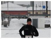 Vittorio Veneto (TV) - Maratonina della Vittoria Alata - 12 febbraio 2012 - Fabio Bernardi sfida il gelo